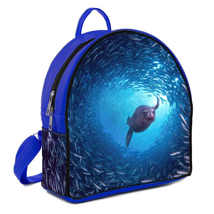 Рюкзак Moderika Arco синий с рисунком Морской Котик (78076) 1252642667