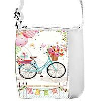 Сумка Moderika Mini Miss белаяя с рисунком Велосипед (55327) 1252637745