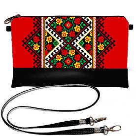 Клатч Moderika Lady черный с рисунком Цветочный ромб (44157)