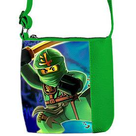 Сумка Moderika Mini Mister зелений з малюнком Ниндзяго (55503)