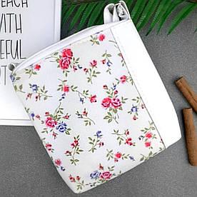 Сумка Moderika Mini Miss біла з малюнком Квіти (55337)