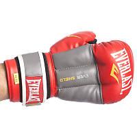 Перчатки гибридные для единоборств ММА 10 ун красный/серый