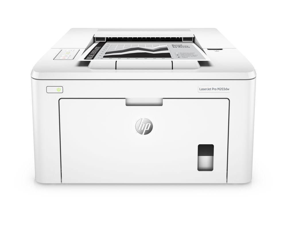 Принтер лазерный А4 ч/б HP LJ Pro M203dw с Wi-Fi
