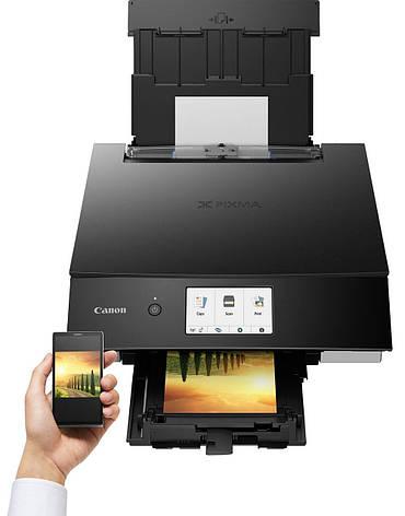 Багатофункціональний струменевий пристрій А4 кол. Canon PIXMA TS8340 black з Wi-Fi, фото 2