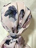 Летняя бандана-косынка-тюрбан  с объёмной драпировкой розовый  и терракотовый, фото 2