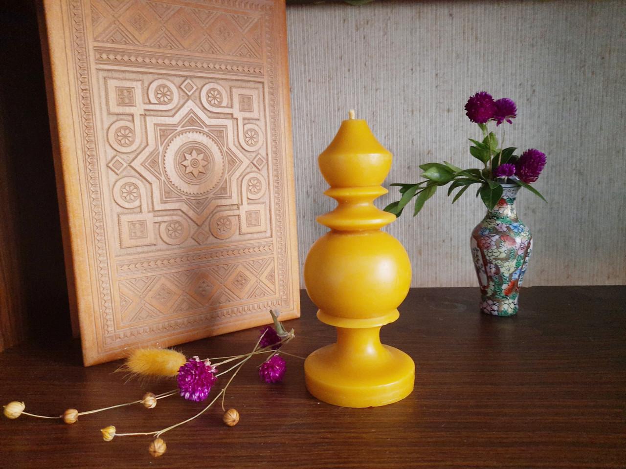 """Свеча восковая из натурального пчелиного воска """" фигурная"""" Zigrivay (15х5см) (10042)"""