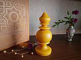 """Свеча восковая из натурального пчелиного воска """" фигурная"""" Zigrivay (15х5см) (10042), фото 2"""