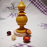 """Свеча восковая из натурального пчелиного воска """" фигурная"""" Zigrivay (15х5см) (10042), фото 4"""