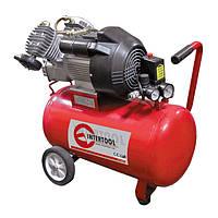Компрессор двухпоршневой с прямым приводом 3 кВт, ресивер 50 л, 420 л/мин, 8 Атм, 220 В Intertool