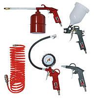 Набор пневмоинструментов, 5 предметов Intertool PT-1501