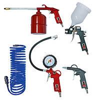 Набор пневмоинструментов, 5 предметов, Intertool PT-1502