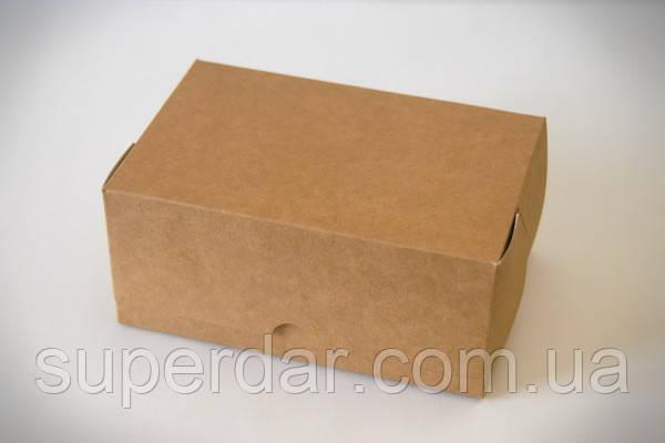 Упаковка для кусочков торта, пирожных и др. изделий, 120х180х80 мм, крафт СД02-03
