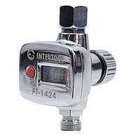 Регулятор давления, 1/4 дюйма, с цифрововым манометром для покрасочных пистолетов Intertool