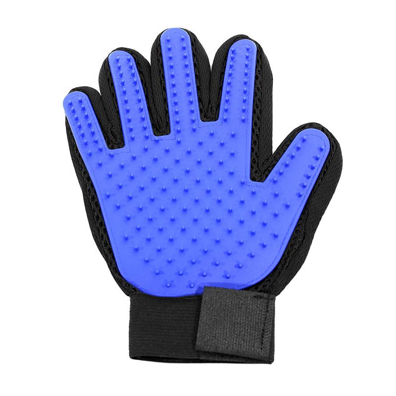 Перчатка True Touch для вычесывания лишней шерсти домашних животных силиконовая для массажа
