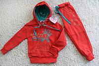 Утепленный костюм с начесом для девочек 4-12 лет