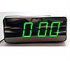 """Великі настільні годинники будильник VST-763Y Зелені Цифри (дзеркальний диспелей 7,8""""), фото 4"""