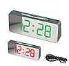 """Великі настільні годинники будильник VST-763Y Зелені Цифри (дзеркальний диспелей 7,8""""), фото 3"""
