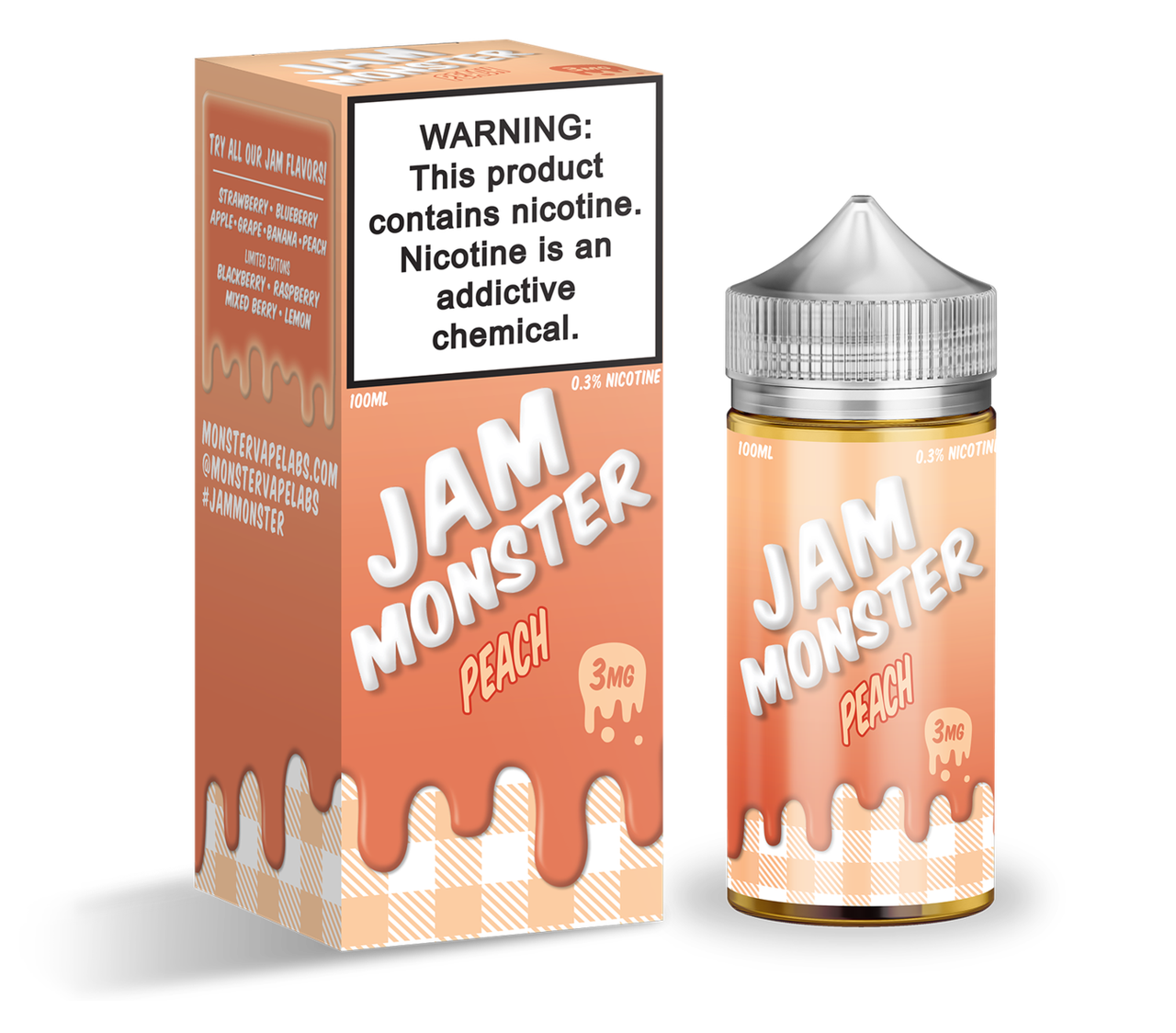 Премиум жидкость Jam Monster - Peach 100ml [3mg] (Original)