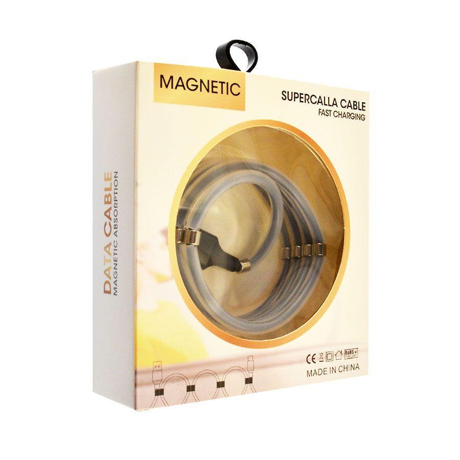 Кабель USB SuperCalla с магнитными кольцами Micro 1м gray
