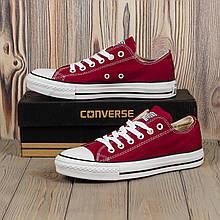 Кеды Converse (низкие бордовые)