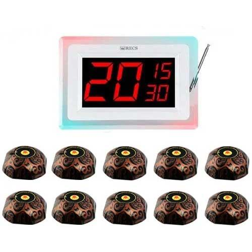 Система виклику офіціанта RECS №120   кнопки виклику офіціанта 10 шт + приймач дзвінки на 3 номери