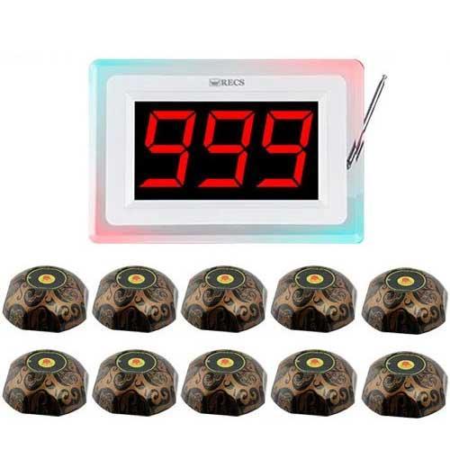 Система виклику офіціанта RECS №119   кнопки виклику офіціанта 10 шт + приймач викликів