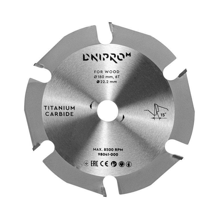 Пильный диск Dnipro-M 180 22,2 6Т