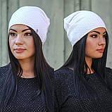 Женская ангоровая шапка с блестящей нитью, фото 3