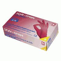 Рукавички нітрилові щільність 4 гр (колір Бордо) Розмір: L+ в Подарунок гель антисептик 200мл