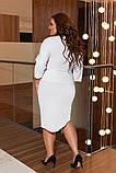 Женский юбочный костюм двойка кофта и юбка размер батал: 48-50, 52-54, 56-58, фото 8