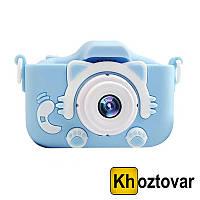 Детский цифровой фотоаппарат со встроенными играми GSMIN Fun Camera Kitty