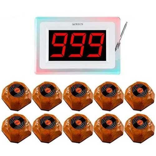 Система вызова официанта RECS №107   кнопки вызова официанта 10 шт + приемник вызовов