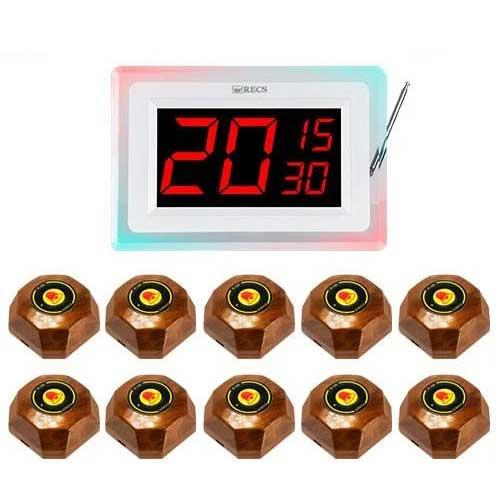 Система виклику офіціанта RECS №91 | кнопки виклику офіціанта 10 шт + приймач викликів на 3 виклику