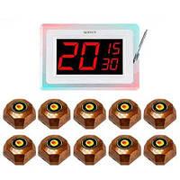 Система вызова официанта RECS №91   кнопки вызова официанта 10 шт + приемник вызовов на 3 вызова, фото 1