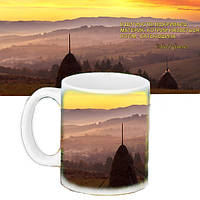 Чашка Moderika белая с рисунком Материк Родина (33073)