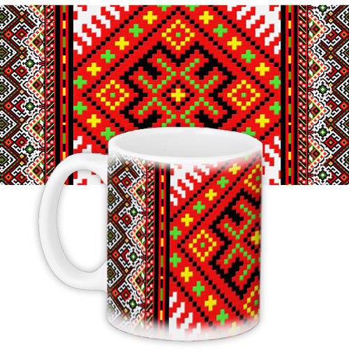 Чашка Moderika белая с рисунком Насыщенный орнамент (33078)