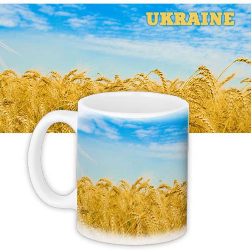 Чашка Moderika белая с рисунком Ukraine (33097)