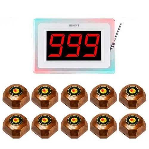 Система вызова официанта RECS №89 | кнопки вызова официанта 10 шт + приемник вызовов