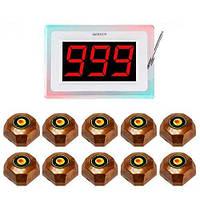 Система вызова официанта RECS №89 | кнопки вызова официанта 10 шт + приемник вызовов, фото 1