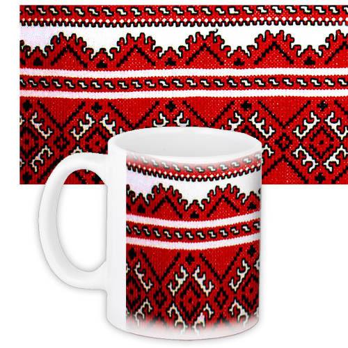 Чашка Moderika белая с рисунком Бабушкина вышивка (33082)