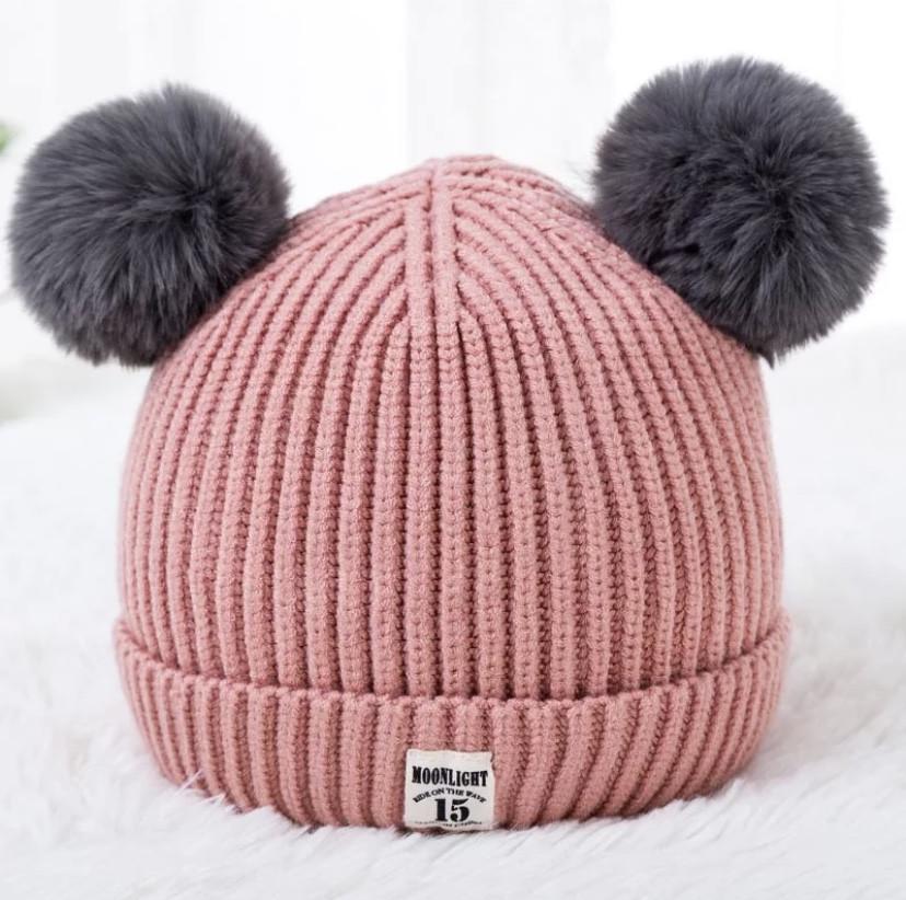 Осеняя шапка 783 Розовая