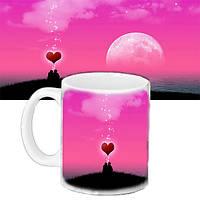 Чашка Moderika белая с рисунком Влюбленные (33118)