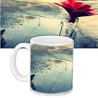 Чашка Moderika белая с рисунком Цветок (33135)