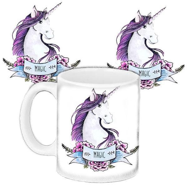 Чашка Moderika белая с рисунком Единорог (33292)