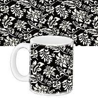 Чашка Moderika белая с рисунком Черно белая роспись (33299)