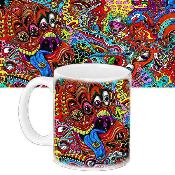 Чашка Moderika белая с рисунком Поп арт монстры (33305)