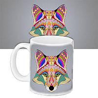Чашка Moderika белая с рисунком Лиса (33311)