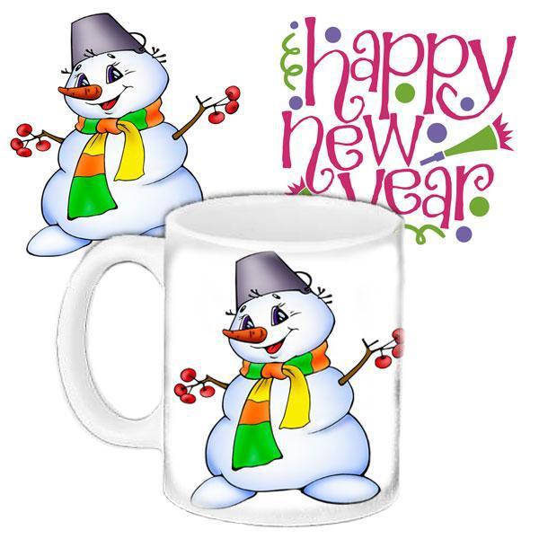 Чашка Moderika белая с рисунком Новый год (33350)