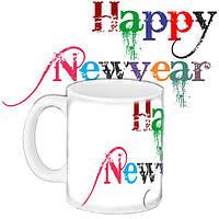 Чашка Moderika белая с рисунком С Новым годом (33368)
