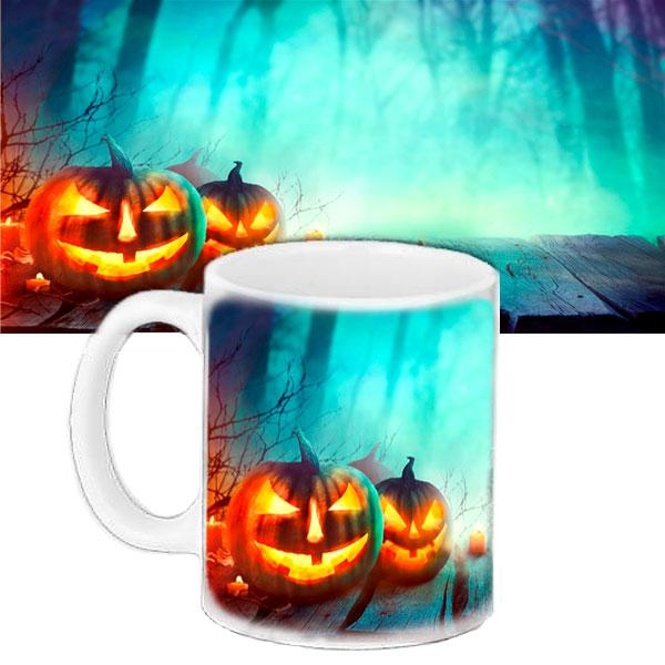 Чашка Moderika белая с рисунком Хеллоуин (33414)